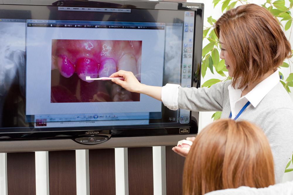 画像や動画を使った丁寧な説明と納得の治療